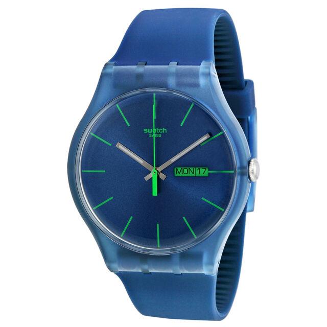 Swatch Blue Rebel Mens Watch SUON700