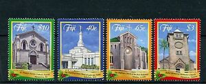 Fiji 2014 MNH Christmas 4v Set Churches Methodist Anglican Religion Stamps