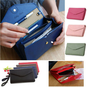 New-Lady-Women-Clutch-Long-Purse-Leather-Wallet-Card-Holder-Handbag-Phone-Bag