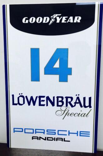 Premium HD Panel Aluminum  Lowenbrau Good Year Racing  Reproduction Garage Sign