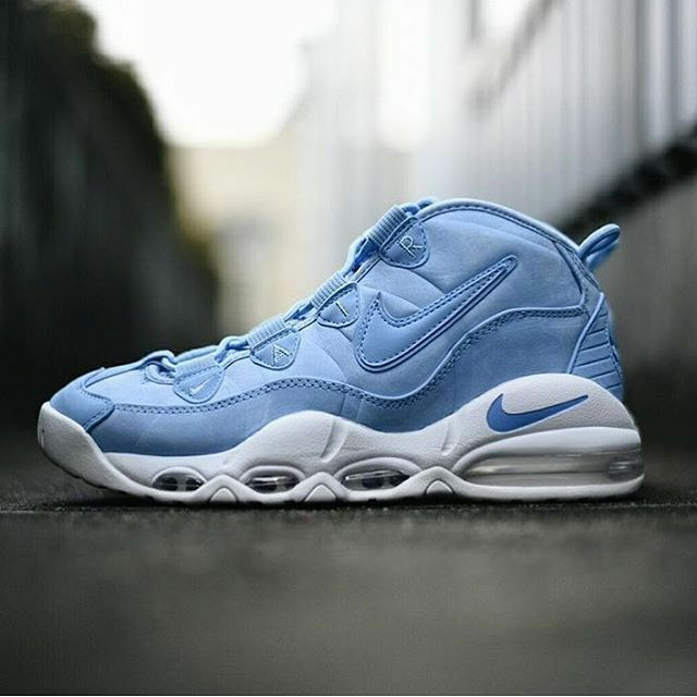 2017 Nike Air Max Uptempo 95 UNC University Blue White size 12.5. 922932-400 QS