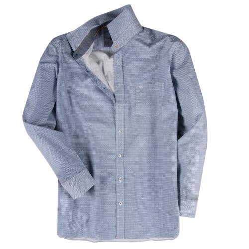XXL CASAMODA bleu et blanc langarmhemd Motif XL 2xl 3xl 4xl 5xl 6xl 7xl Neuf XXL