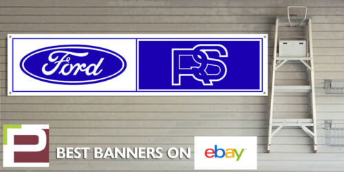 Ford RS Vintage look Workshop Garage Banner