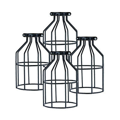 Industrial Bulb Guard Clamp Metal Lamp Cage Vintage Trouble Light Shade Lanterns
