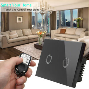1-2-3Gang-1Way-Crystal-Glass-Panel-Smart-Touch-Light-Switch-Power-Remote-Control