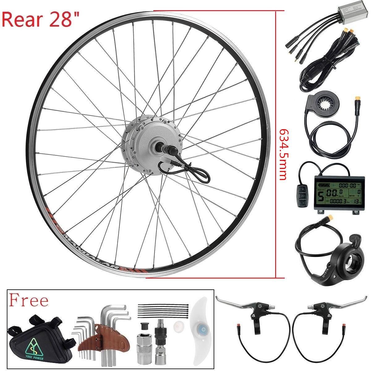 36V350W 28  (700c) e-bike Rueda Motor de Buje Trasero Kit de conversión E-Bike Kit de actualización