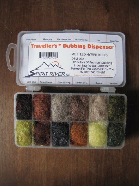 Tans and Browns Fly Tying Spirit River UV2 Traveller/'s Dubbing Dispenser