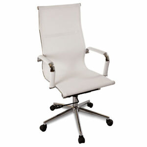 Image Is Loading New White Modern Ergonomic Mesh High Back Executive