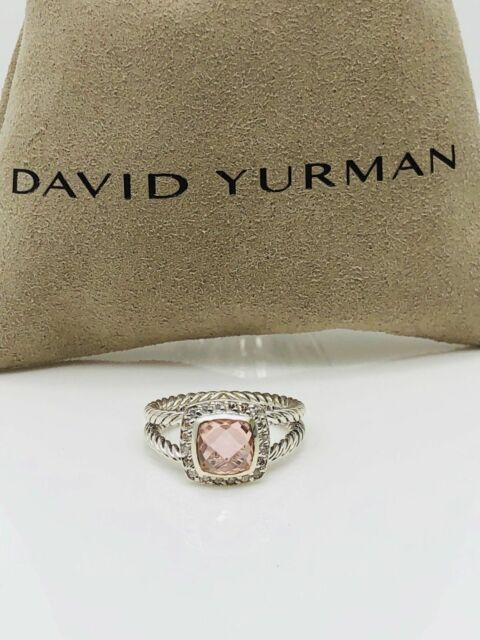 David Yurman Petite Albion Ring With Morganite Amp Diamonds