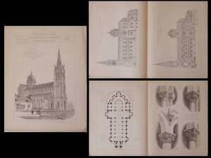 CHATEAUROUX-EGLISE-NOTRE-DAME-PLANCHES-ARCHITECTURE-1895-ALFRED-DAUVERGNE