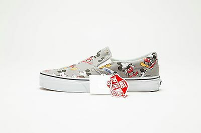 NEW VANS x DISNEY CLASSIC SLIP-ON VN-00MEGHG (DISNEY) MICKEY MOUSE/FROST GRAY