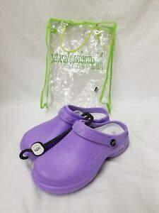 c1bf84e15390f Image is loading Natural-Uniforms-Womens-Ultralite-Clogs-Lilac-Size-6