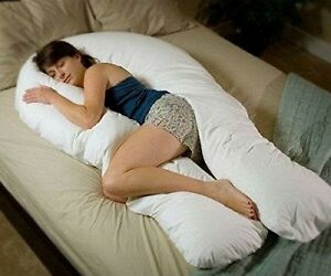 Oversize-U-shape-Full-Body-Comfort-Support-Pillow-Sleep-Lounge-Pregnancy-Support