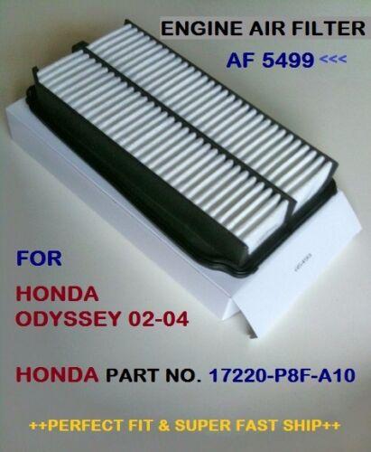 ENGINE AIR FILTER Fits Honda ODYSSEY V6 02-04 AF5499 High Quality+Fast Shipping!