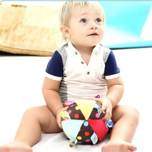 Colorful Ball Bell Soft Hand Grasp Music Sense Baby Educational Plush Toys W