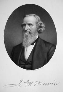 JAMES-M-MARVIN-of-Saratoga-NY-Banker-SUPERB-Portrait-1877-Antique-Print