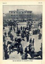 H. Heinrich Auf dem Pferdemarkt in Buttstädt Thüringen Histor. Memorabile v.1908