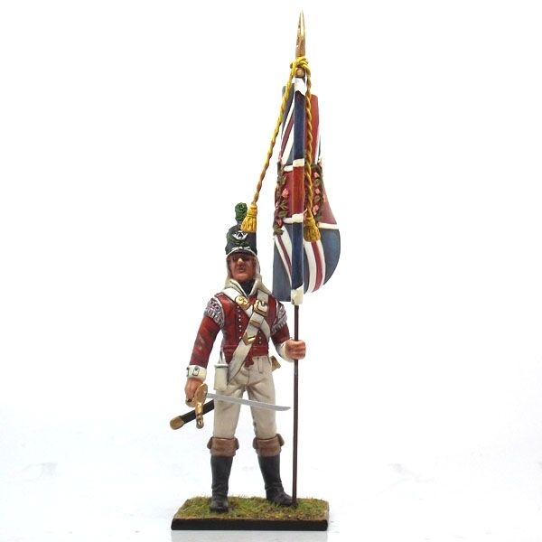 Nap 13 Standard bearer of 43rd  Light Infantry Cold Steel Miniatures