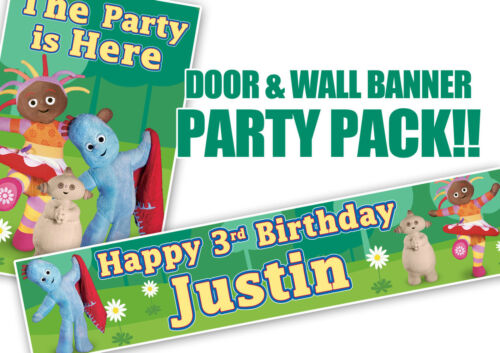 In The Night Garden Birthday Door Banner and personalised wall banner