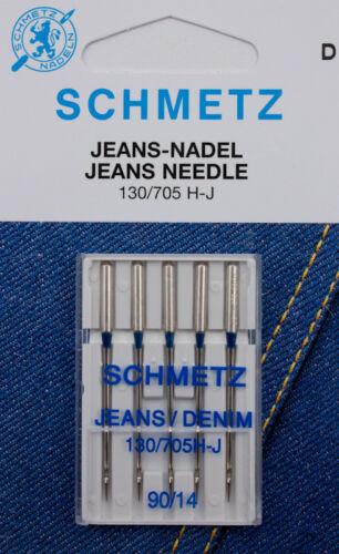 90 5 SCHMETZ 130//705 H-J Jeansnadeln Nadeln St