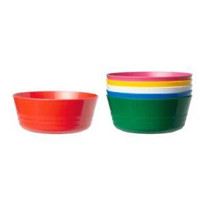 IKEA-New-Kalas-enfants-Bol-Pack-De-6-assortiment-couleur-enfants-en-plastique-Bowl