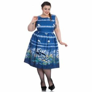 Blue-Montana-DRESS-TEA-Hellbunny-UK-18-Native-American-2XL