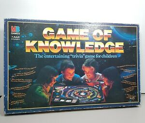 Vintage-Game-Of-Knowledge-Trivia-Board-Game-Milton-Bradley-1988-VTG-RATE-HTF