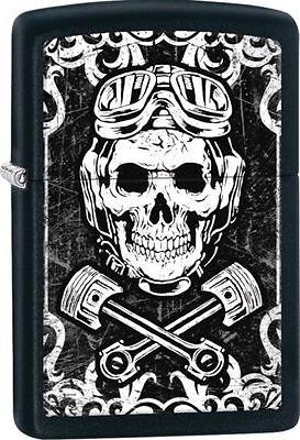 Zippo 29088, Skull, Wrenches, Black Matte Finish Lighter, Full Size