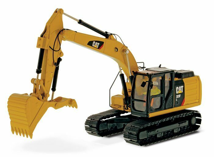 DM 1 50 Caterpillar Cat 323F L Hydraulic Excavator Vehicles Diecast Toy Model