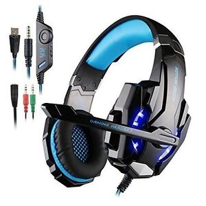 Cuffia Gaming per PS4 New Xbox One, con Microfono Stereo Bass Luci a Led