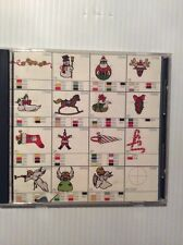 Memory Card Janome Embroidery Designs #124  (Christmas Designs 3) Snowman Angel