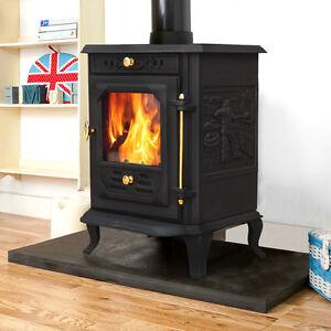 multifuel log burning cast iron wood burner stove fireplace ja001