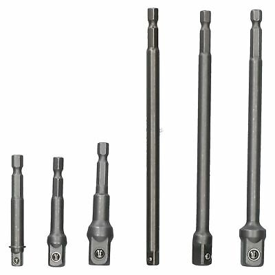 """6pc Impact Socket Wrench Extension Set 1//2/"""" /& 3//8/"""" Drive"""