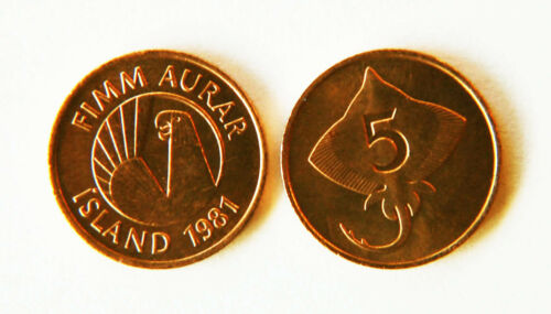 Iceland 1981 5 Aurar Uncirculated KM24