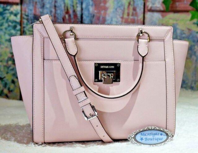 Michael Kors Tina Blossom LG TZ Satchel Hand Bag Leather