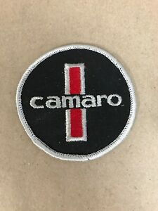 Vtg-Chevrolet-Camaro-Embroidered-Sew-On-Patch-3-Auto-Racing-Badge-SS-Hot-Rod