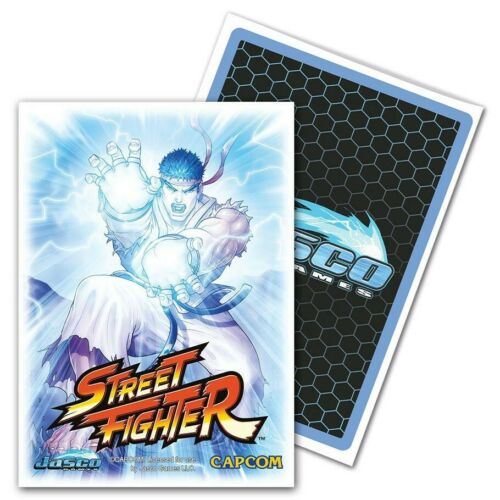 DRAGON SHIELD Jasco Street Fighter Ryu 100 CARD SLEEVES DECK PROTECTORS Pokemon