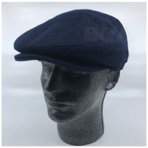 Men/'s 100/% Wool Flat Ivy Gatsby Newsboy Paperboy Snap Bill Solid Color Cap Hat
