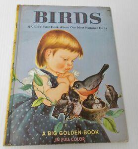 1958 Big Golden Book 10544 BIRDS Jane Watson Eloise Wilkin Full Color Prints