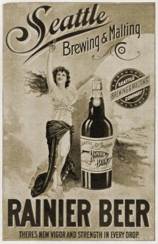 Art Nouveau Retro Rainer Beer Advertising Prints & Posters  A1,A2,A3,A4 Sizes
