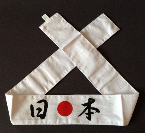 Japanese Hachimaki Headband Martial Arts Sports Red White 15 Kanji Made in Japan