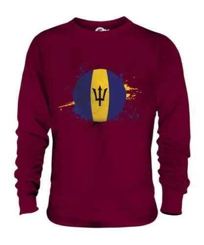 BARBADOS FOOTBALL UNISEX SWEATER TOP GIFT WORLD CUP SPORT