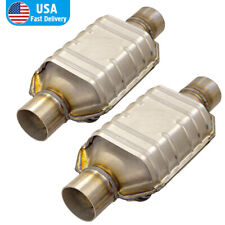 2pcs 25 Universal Catalytic Converter 83166 Fit For Silverado 1500 Gmc Ford