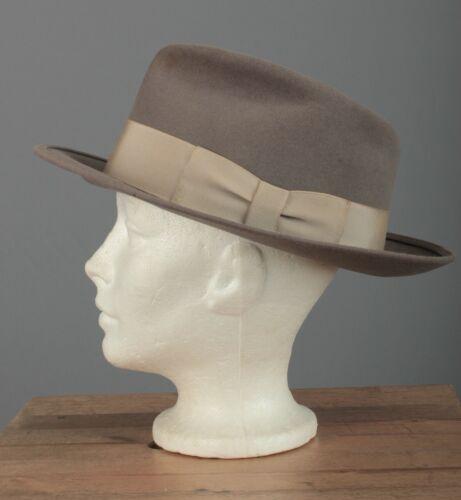 Men's 1940s 1950s Bee Hats Fedora 7 1/2 40s 50s Vt