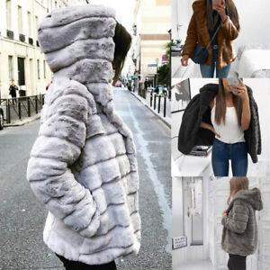 a8eb92f112d Women Mink Coats Winter Hooded New Faux Fur Jacket Warm Thick ...