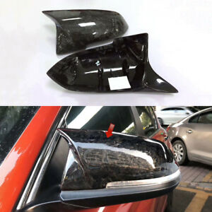 fd99ca73ba34 Forged Carbon Fiber Mirror Cover Replace For BMW 1 2 3 4 Series F30 ...