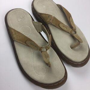 fcc43a2958b Dr Martens Womens Thong Flip Flop Air Cushion Sole Leather Tan brown ...