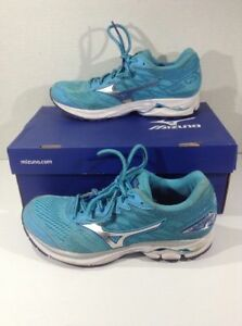 Details about MIZUNO Wave Rider 20 Women's 6.5 turquoise Blue Running Athletic Sneakers Shoes