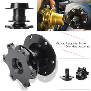 Car-Steering-Wheel-Quick-Release-Snap-Off-Hub-Adapter-fits-Sparco-OMP-Momo-Black