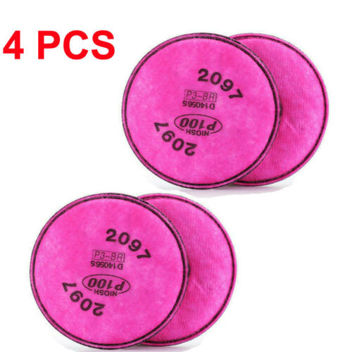 4PCS 2097 Filter Fit for  6800 6100 6200 6300 7501 7502 7503 Respirator